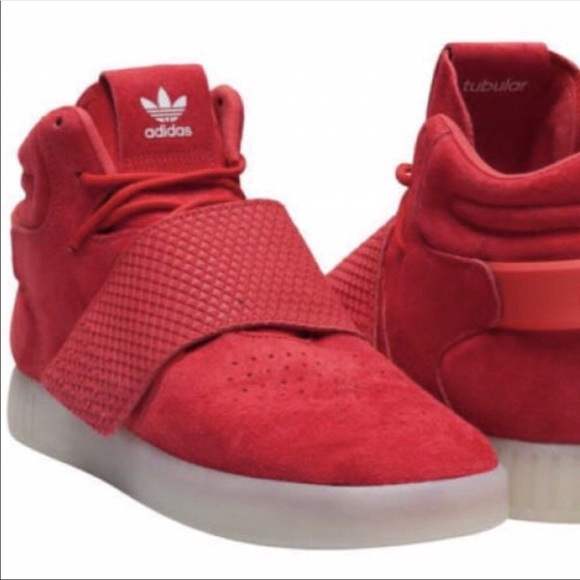 Adidas Originals Tubular Invader Strap Red Men's NWT